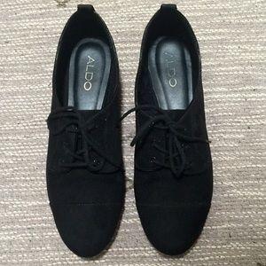 Aldo Black suede Oxford shoes